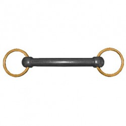 JHL Pro Steel Nylon Brass Ring Snaffle