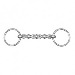 JHL Pro Steel Waterford Loose-Ring Snaffle